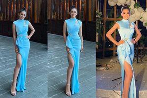 Khoe trọn đường cong như nữ thần, Tiểu Vy 'lọt mắt xanh' bà chủ tịch Miss World