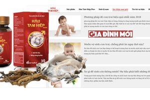 Hàu Tam Hiệp vi phạm quảng cáo, tuyên truyền sinh con theo ý muốn, ăn hàu sinh con trai