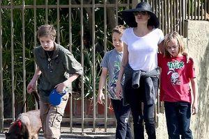 Angelina Jolie đưa các con đi chơi trước ngày gặp Brad Pitt tại tòa