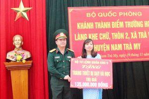 Hỗ trợ xây dựng điểm trường học ở làng tái định cư Khe Chữ