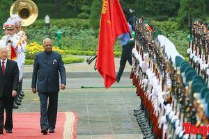 Tổng Bí thư, Chủ tịch nước Nguyễn Phú Trọng chủ trì Lễ đón chính thức Tổng thống Ấn Độ thăm cấp Nhà nước tới Việt Nam