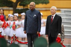Tổng Bí thư, Chủ tịch Nước Nguyễn Phú Trọng chủ trì lễ đón trọng thể Tổng thống Ấn Độ tại Phủ Chủ tịch
