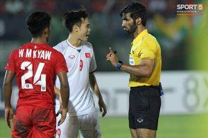 Văn Toàn bị trọng tài 'cướp' bàn thắng trong trận Myanmar vs Việt Nam tại AFF Cup 2018
