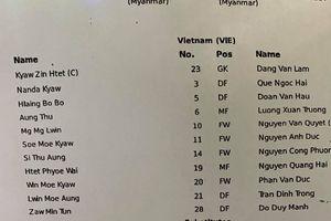 Trực tuyến Myanmar - Việt Nam: Trung vệ Bùi Tiến Dũng dự bị, Văn Quyết trở lại