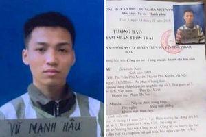 Một phạm nhân giết người chịu án chung thân vừa trốn trại