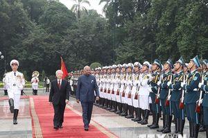 Hình ảnh lễ đón Tổng thống Ấn Độ thăm cấp Nhà nước tới Việt Nam