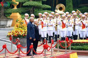 Hình ảnh lễ đón trọng thể Tổng thống Ấn Độ thăm chính thức Việt Nam