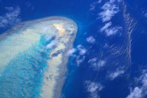 Rạn san hô Great Barrier của Australia tuyệt mỹ khi nhìn từ trên cao