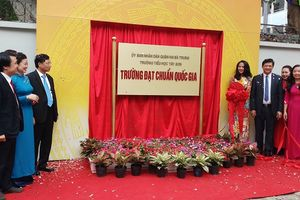 Trường Tiểu học Tây Sơn đón bằng công nhận Trường chuẩn Quốc gia