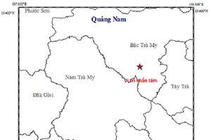 Lại xảy ra động đất tại huyện Bắc Trà My