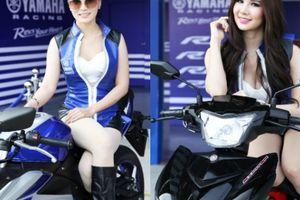Ngất ngây dàn siêu mẫu cực sexy bên môtô Yamaha tuyệt đẹp