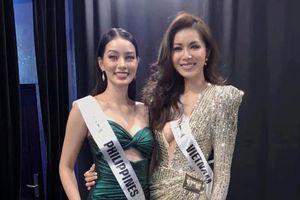 Minh Tú ghi điểm khi cho thí sinh Philippines mượn quần áo