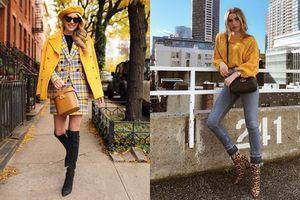 Instagram tuần qua: Mix đồ màu vàng tươi tắn cho mùa lạnh