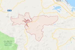 Một trận động đất kích thích lại xảy ra tại huyện Bắc Trà My