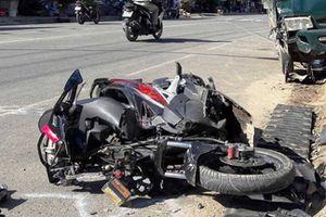 Xe tải lao tốc độ cao đâm trực diện người đi xe đạp, 1 người tử vong tại chỗ