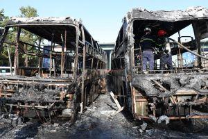 Đà Nẵng: Cháy lớn tại bến xe trung tâm thành phố