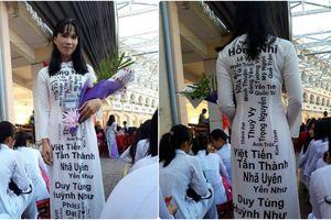 Bộ áo dài 'hot' nhất mạng xã hội trong ngày Nhà giáo Việt Nam hôm qua
