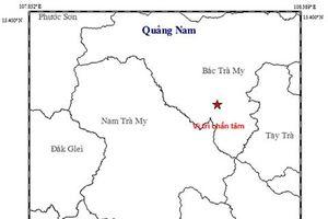 Huyện Bắc Trà My, Quảng Nam lại xảy ra động đất