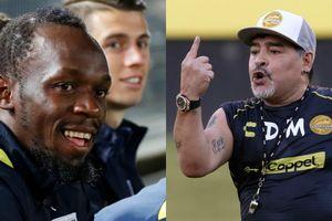 Usain Bolt sắp gia nhập đội bóng Mexico do Maradona dẫn dắt