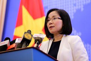 Việt Nam yêu cầu TQ dừng ngay việc xây dựng trái phép tại Đá Bông Bay