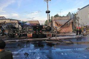 Cháy xe bồn chở xăng làm 6 người chết