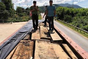 Đắk Lắk: Bắt giữ 2 xe gắn biển số giả chở hàng trăm tấm gỗ lậu