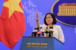 Yêu cầu Trung Quốc chấm dứt ngay lắp đặt cấu trúc mới trên đá Bông Bay ở Hoàng Sa