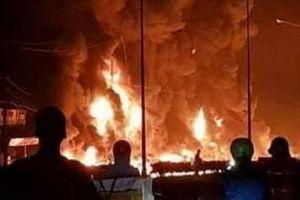 Clip: Toàn cảnh vụ xe bồn xăng dầu gây cháy khiến 6 người chết