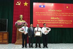 Lễ đón nhận Huân chương của nước CHDCND Lào trao tặng cho tỉnh Quảng Trị