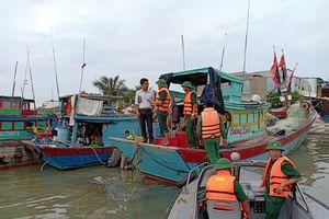 860 phương tiện đã vào khu vực tránh trú bão an toàn