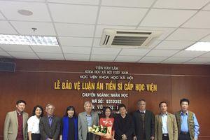 NCS Vũ Thị Hà bảo vệ thành công luận án Tiến sỹ 'Giới trẻ Công giáo và sự hòa nhập xã hội'