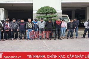 Khám xét 5 cơ sở 'tín dụng đen' lớn nhất Hà Tĩnh, bắt giữ 25 đối tượng