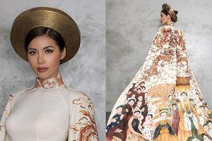 Minh Tú thần thái trong bộ quốc phục lạ mắt tại 'Hoa hậu Siêu quốc gia 2018'