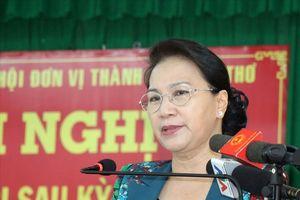 Chủ tịch Quốc hội Nguyễn Thị Kim Ngân: 'Sản phẩm bà con làm ra rất ngon, nhưng giá bán lại thấp'