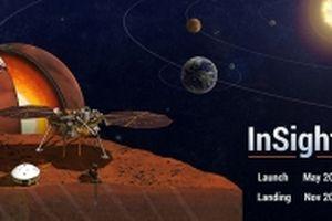 Thiết bị thám hiểm InSight của NASA đang hạ cánh bề mặt Sao Hỏa