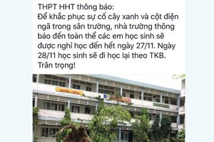 TP.HCM: Hai trường cho học sinh nghỉ học ngày mai 27.11