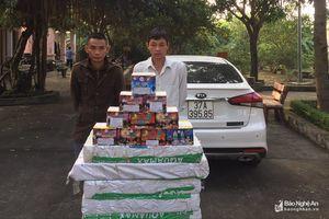 Bám từ Quảng Bình ra Nghệ An, bắt giữ 2 đối tượng vận chuyển lượng 'khủng' pháo nổ