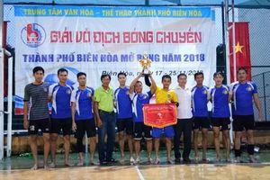 Kết thúc giải vô địch bóng chuyền thành phố Biên Hòa mở rộng 2018