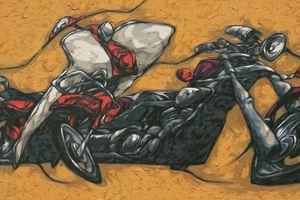 Họa sĩ Hữu Khoa mở triển lãm mỹ thuật đầu tiên về đề tài xe máy