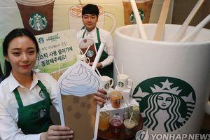 Starbucks loại bỏ ống hút nhựa tại các cửa hàng ở Hàn Quốc