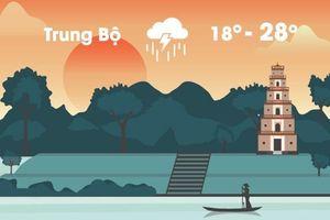 Thời tiết ngày 27/11: Trung Bộ mưa lớn diện rộng, nguy cơ lũ lụt cao