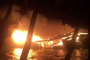 Quảng Nam: Tàu cá cháy trong đêm, thiệt hại gần 10 tỉ đồng