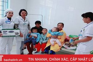BVĐK thị xã Hồng Lĩnh quyên góp tiền hỗ trợ bệnh nhân nhi khó khăn