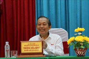 Phó Thủ tướng Trương Hòa Bình tiếp xúc cử tri huyện Đức Huệ, tỉnh Long An