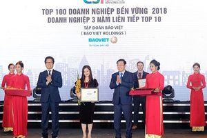 Bảo Việt năm thứ 3 liên tiếp trong Top 10 Doanh nghiệp bền vững xuất sắc nhất Việt Nam