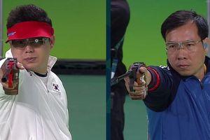 Quán quân Olympic Jin Jong-oh giao hữu với các tay súng Việt Nam