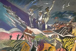 Sáng tác mỹ thuật 'Lực lượng vũ trang - Chiến tranh cách mạng'