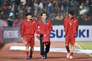Bác sĩ đội tuyển Việt Nam: 'Văn Toàn có thể hồi phục và thi đấu trận bán kết lượt về'