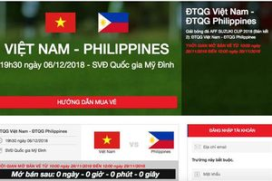 Bán vé online trận Việt Nam - Philippines: Hệ thống bán vé quá tải