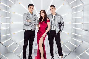 Hoa hậu Hải Dương được bộ đôi 'trai đẹp' Võ Cảnh, Minh Trung hộ tống đi sự kiện